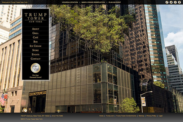 Trump Tower NY Homepage